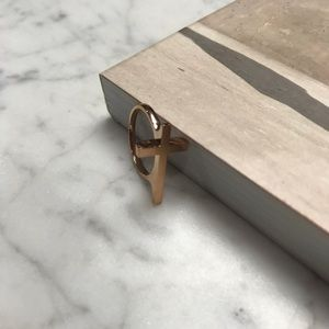 No Brand Jewelry - NWOT Gold Metallic Cross Christian Prayer Ring